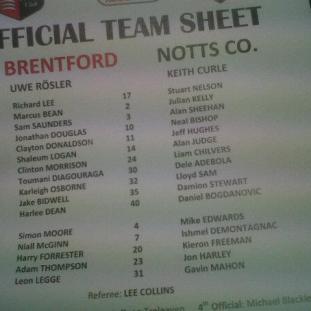 Brentford vs Notts County